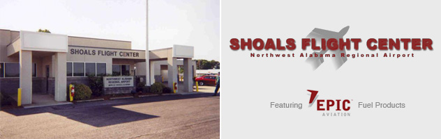 Shoals Flight Center - Northwest Alabama Regional Airport - Featuring Epic Aviation Fuel Products